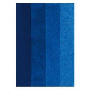 Spirella Tapis de bain FOUR 55x65cm Bleu Tapis de bain FOUR - 90% Polyester et 10% acrylique - 55 x 65 cm - Cycle délicat - Bleu