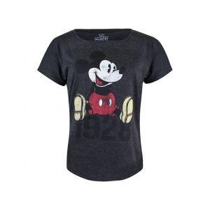 Mickey & Minnie Mickey Year T shirt manc s courtes bruyère