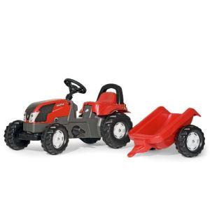 Rolly Toys Tracteur à pédales Valtra avec remorque