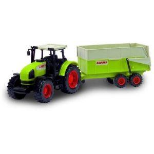 John World Tracteur Claas avec remorque