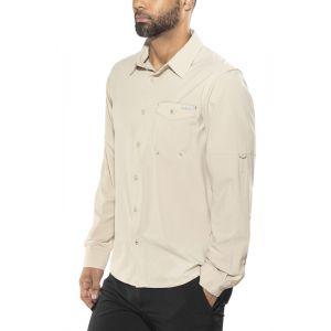 Columbia Chemise de Randonnée Longues Manches Homme, Triple Canyon Solid Long Sleeve Shirt, Polyester, Kaki (Fossil), Taille: M, AM0433