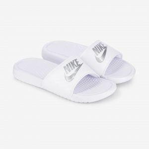 Nike Claquette Benassi pour Femme - Blanc - Taille 36.5 - Femme