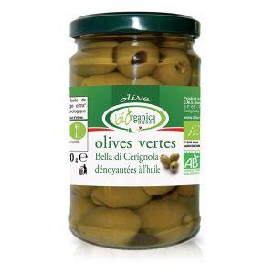 Biorganica nuova Olives vertes dénoyautées aux herbes - 280g