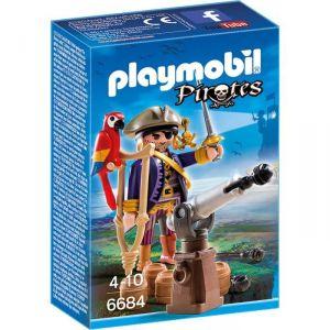 Playmobil 6684 Pirates - Capitaine pirate avec canon