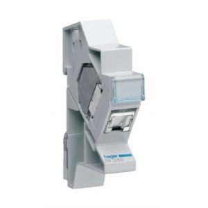 Hager Connecteur RJ45 cat.6a+ support modulaire pour grade 3TV (TN008S)