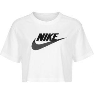 Nike Sportswear Essential T-shirt Femmes blanc T. L