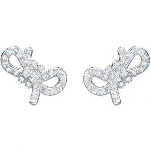 Swarovski Boucles d'oreilles Lifelong Bow, blanc, métal rhodié
