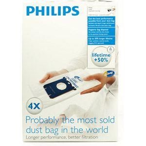 Philips FC8021/03 - 4 sacs jetables S-bag pour aspirateurs