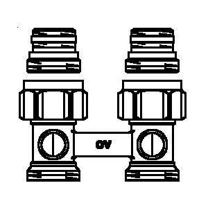 Oventrop 1015883 - Raccord droit MULTIFLEX série F dimension 15x21-20x27