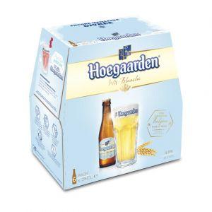 Hoegaarden Bière belge blanche, aromatisée aux épices et à l'écorce d'orange - Les 6 Bières de 25cl