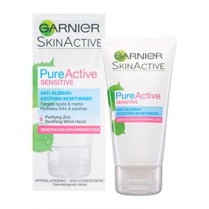 Garnier PureActive Sensitive - Hydratant apaisant anti-imperfections 50 ml