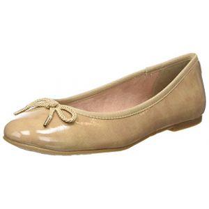 Tamaris 22123 - Ballerines - Femme - Beige (Nude Patent) - Taille  39 493dee096de7
