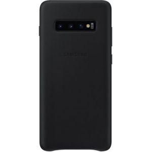 Samsung Coque S10+ Cuir noir