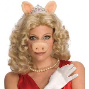 Perruque Miss Piggy Muppets Show
