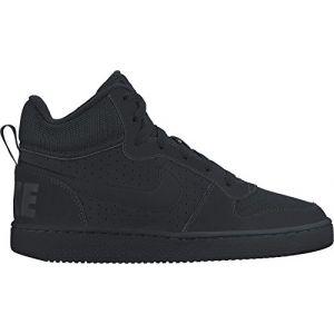 Nike Court Borough Mid (GS), Chaussures de Sport-Basketball Garçon, Blanc, Noir (Black/Black/Black), 36 EU