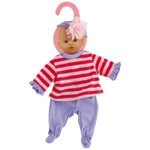 Calinou Vêtement pour poupon 32-36 cm Pantalon violet et pull rayé
