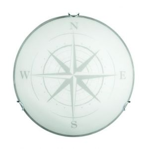 Brilliant AG Applique/Plafonnier - Ø: 30cm BELIZ -1x60W E27 -BLANC/DECOR - BRILLIANT - 94056_70