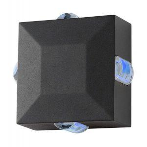 Vision-El Applique murale LED 6W (54W) IP54 Lumière bleue Carré anthracite