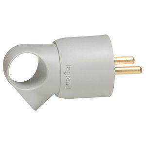 Legrand Fiche à anneau 2P+T plastique gris