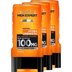 L'Oréal Men Expert Hydra Energetic Réveil Instantané Gel Douche pour Homme 300 ml