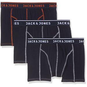 Jack & Jones Lot de 3 Boxers Homme Matt - Bleu Marine - L - Bleu