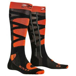 X-Socks Ski Control 4.0 Chaussettes Homme, Anthracite/Orange, FR : XL