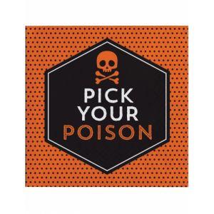 16 Serviettes en papier Halloween Pick your poison