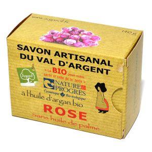 Argasol Savon bio Rose 140g