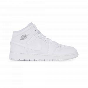 Nike Chaussure Air Jordan 1 Mid pour Enfant plus âgé - Blanc - Couleur Blanc - Taille 36.5