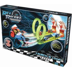 Modelco Coffret piste Rev Racerz avec 2 motos et lanceur
