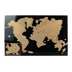 Sous main Carte du monde à gratter Feuille x 12