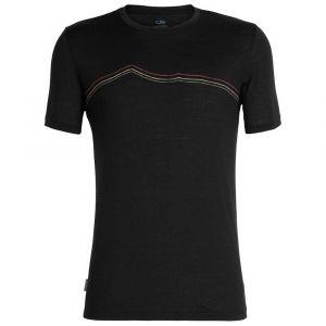 Icebreaker Tech Lite S/S Crewe Rangitoto Triple - T-shirt taille S, noir
