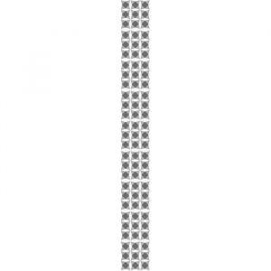 Plage Sticker déco carrelage Nereto vinyle 10x10 cm Noir et Blanc - Décoration carrelage adhésive - Géométrique Nereto - 9 planches - 10x10 cm - Noir et Blanc