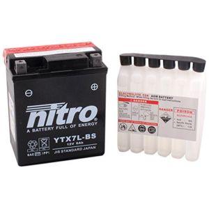 Nitro Batterie YTX7L-BS AGM ouvert avec pack acide Type Acide