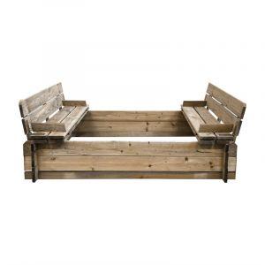 Cemonjardin Bac à sable en bois avec bancs