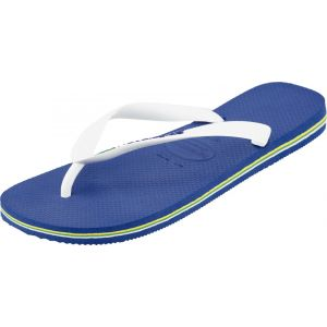 Havaianas Brasil Logo, Tongs Mixte Adulte, Bleu (Marine), 29/30 EU (27/28 Brazilian)