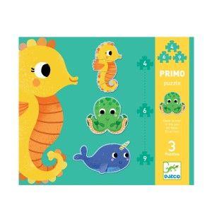 Djeco Puzzle évolutifs Primo dans la mer 4,6,9 pièces