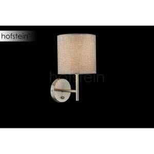 Globo Lighting Applique luminaire mat - - Tissu gris - Interrupteur - 15 x26 cm - 40W - 230V - Applique luminaire mat - - Tissu gris - Interrupteur - 15 x26 cm - E14 - 40W - 230V