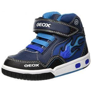 Geox Jr Gregg C, Baskets Hautes Garçon, Bleu (Navy/Lt Blue C0693), 28 EU