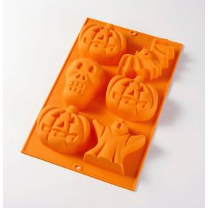 Lékué Moule à gâteaux 6 cavités Halloween