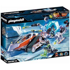 Playmobil TOP AGENTS Figurine commando traîneau des glaces Spy Team 70230
