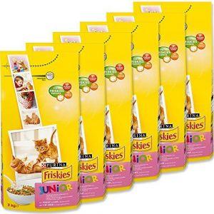 Friskies Chat croquettes pour chat junior poulet, lait, légumes ajoutés 2 kg - Lot de 6 (12 kg)