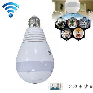 Caméra IP ampoule 360 degrés intelligente sans fil IP wifi, carte de soutien TF 64 Go max