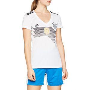 Adidas DFB Domicile Maillot de WM 2018 Femme Maillot de Football, Blanc/Noir, XS