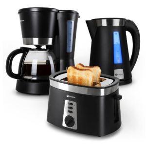 Klarstein Sunday Morning Set petit-déjeuner - Cafetière, bouilloire et grille-pain