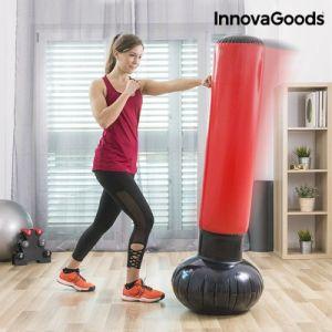 Innova Goods InnovaGoods IG116264 Sac de Frappe Unisexe Gonflable sur Pied pour Adultes Rouge Taille Unique