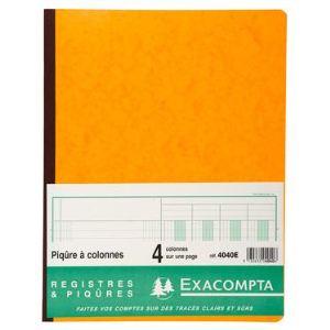 Exacompta Registre 4 colonnes 80 pages (250 x 320 mm)