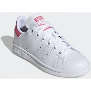 Adidas Baskets -originals Stan Smith Junior - Ftwr White / Ftwr White / Real Pink - EU 35 1/2