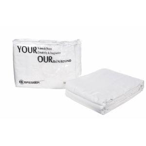 Bresser Fond Tissu Blanc 3 x 6 m + sac de transport