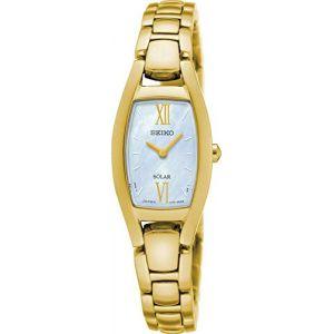 Seiko SUP314P1 - Montre Femme - Quartz - Analogique - Solaire - Bracelet Acier inoxydable doré